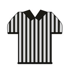 Referee uniform shirt design vector