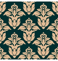 Retro floral seamless pattern vector image