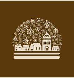 Snow globe town vector