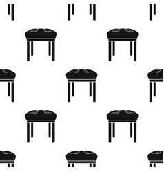 Stool icon in black style isolated on white vector