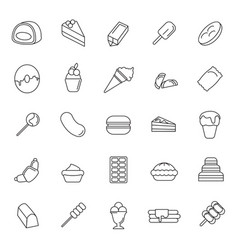 sweet icons set vector image vector image