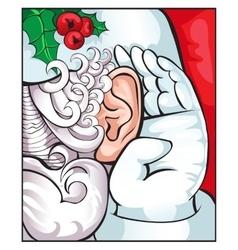 Tell Santa on an ear the treasured desire vector image