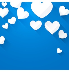 Valentine background with white hearts vector image