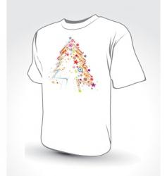 Christmas tree t-shirt vector image