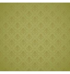 Green Seamless wallpaper pattern vector image