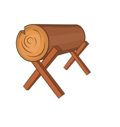 Log stand icon cartoon style vector