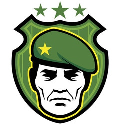 soldier mascot vector image