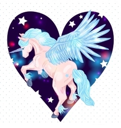 Of winged pegasus vector