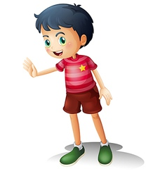 A boy with a stripe shirt vector image