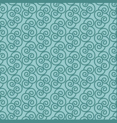blue pattern with linear swirls vector image