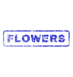 Flowers rubber stamp vector
