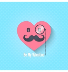 Valentines day character eyeglasses background vector