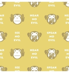 Wise monkey Seamless background vector image