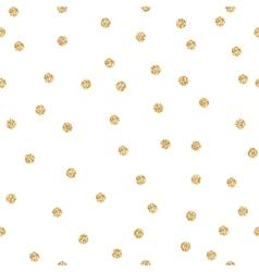 Gold shimmer glitter polka dot seamless pattern vector