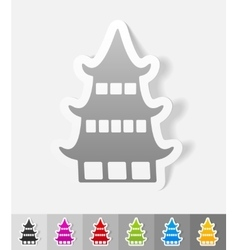 Realistic design element japanese house vector