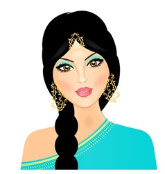 Eastern indian girl vector