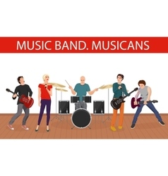 Musicians music band young vector