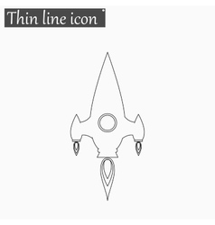 Rocket icon style thin line vector