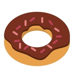 Sweet donut sweet dessert icon vector