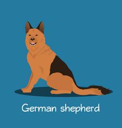 An depicting german shepherd dog cartoon vector