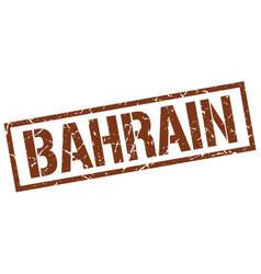 Bahrain brown square stamp vector
