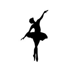 Ballerina silhouette black vector