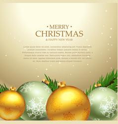 beautiful christmas festival greeting card design vector image