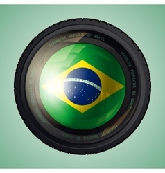 Brazil camera lens vector image vector image