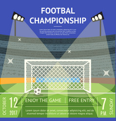 Cartoon football championship soccer field banner vector