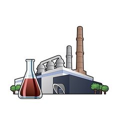 chemicals factory vector image