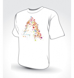 Christmas tree t-shirt vector image