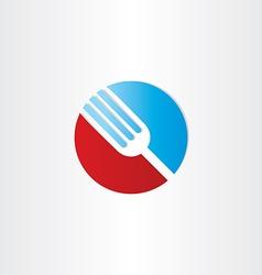 Circle fork restorant symbol vector