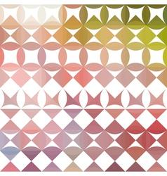 Colorful retro geometric pattern vector image
