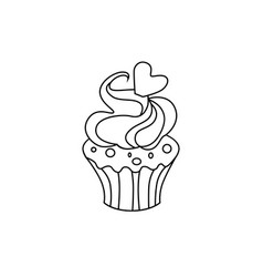 Cupcake icon character 03 vector