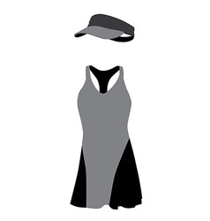 Grey and black tennis vector image vector image