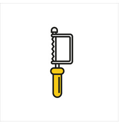 hacksaw icon on white background vector image
