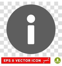 Info round eps icon vector