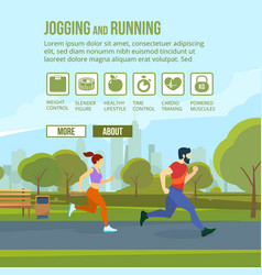 infographic set with runners and training elements vector image