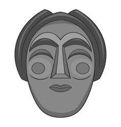 Korean mask icon gray monochrome style vector