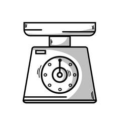 line scale weight machine kitchen utensil vector image vector image
