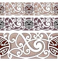 Maori styled seamless pattern vector image