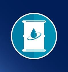 oil barrel icon button logo symbol concept vector image
