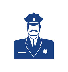 Police icon policeman officer sign cop symbol vector