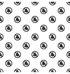 Prohibition sign flies pattern simple style vector