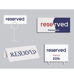 Reservation sign France 2016 Football design The vector image