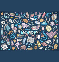 set of bathroom objects vector image vector image
