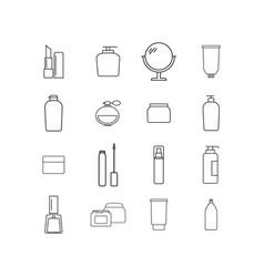 set of cream bottles online icons vector image