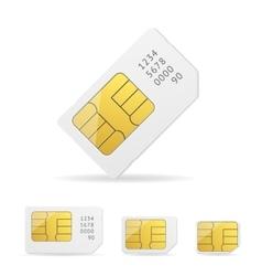 Sim card set vector