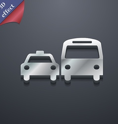 taxi icon symbol 3D style Trendy modern design vector image