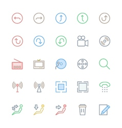 User Interface Colored Line Icons 25 vector image vector image